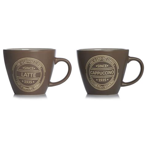 design latte mug wilko latte and cappuccino design mug at wilko com