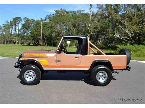 jeep cj8 1984 jeep cj8 scrambler for sale classiccars com cc