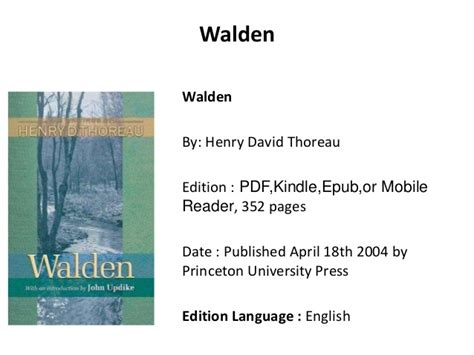 Walden Pdf Book