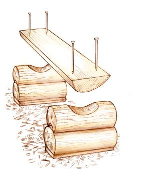 how to make a log bench weekend project diy log bench