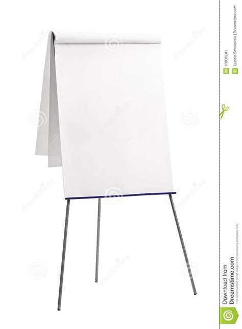 How To Make Paper Presentation - presentation board with a blank paper stock image image