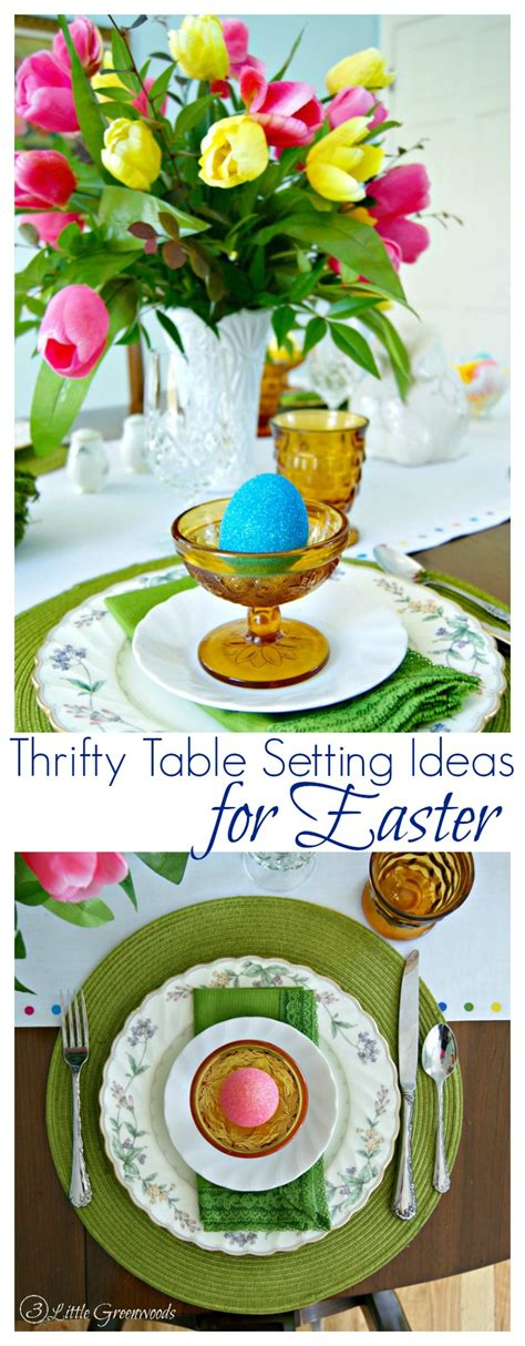 setting ideas thrifty table setting ideas for easter
