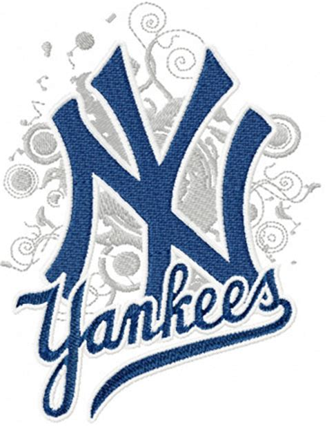 embroidery design ny new york yankees modern logo machine embroidery design