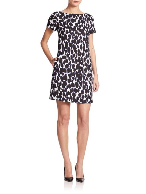leopard print swing dress kate spade new york leopard print swing dress lyst