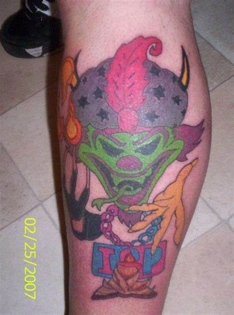 joker tattoo on leg incredible joker icp tattoo on leg tattooshunter com