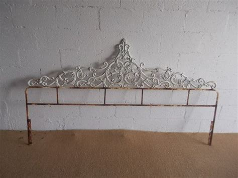 iron scroll headboard vintage hollywood regency wrought iron scroll kingsize