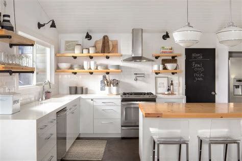 open shelving kitchen cabinets the pros and cons of upper kitchen cabinets and open shelves
