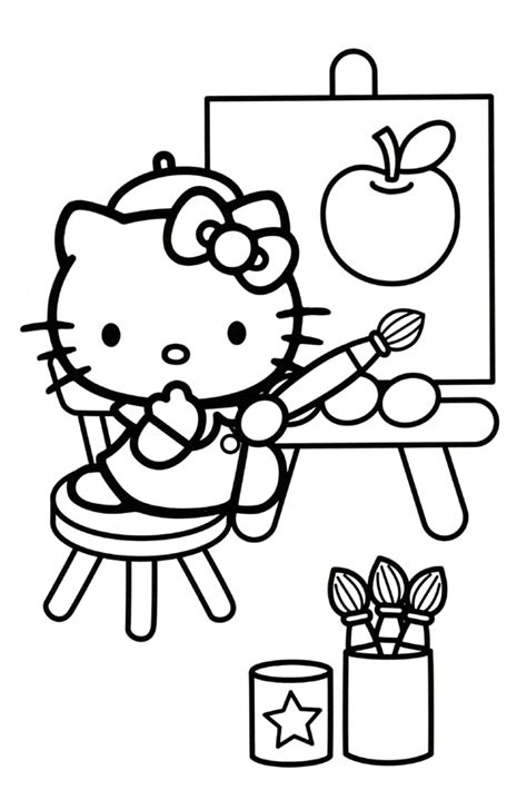 hello kitty balloons coloring pages hello kitty coloring pages with balloons kids coloring
