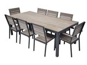 2 chaises de jardin bois composite mobilier