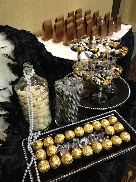 Sweety Black black gold and ivory buffet sweet