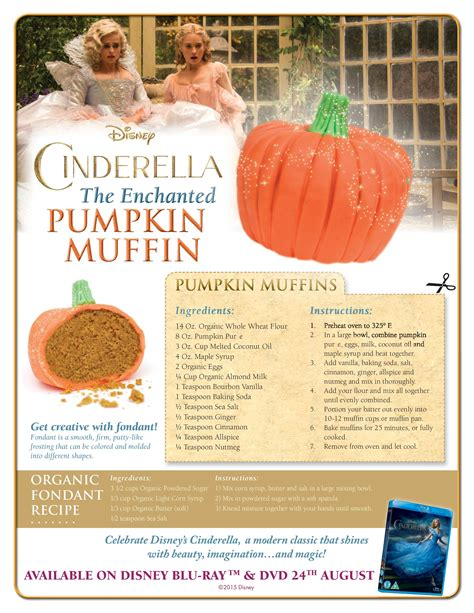 printable disney recipes cinderella inspired enchanted pumpkin muffins in the