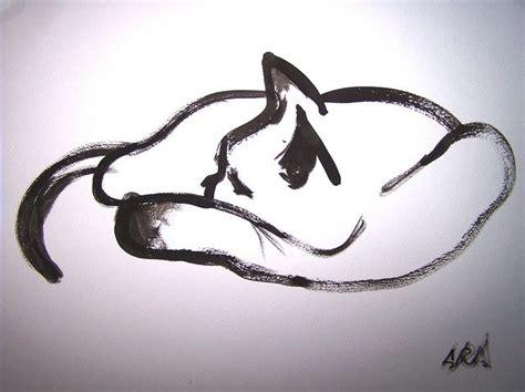 outline sleeping cat tattoo 85 best images about dieren schilderen on