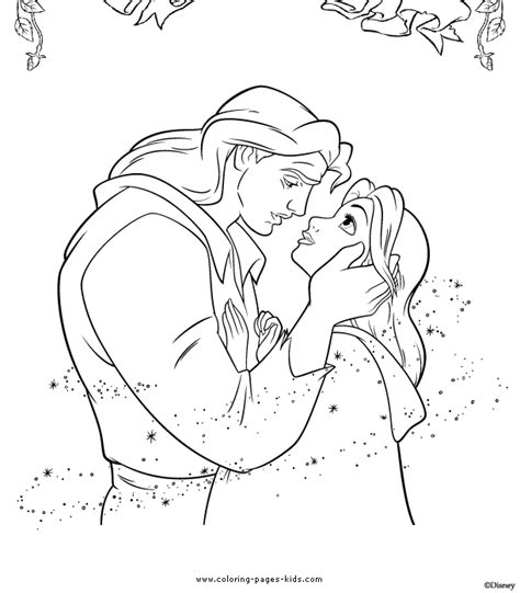 coloring pages disney and the beast free coloring pages of and the beast
