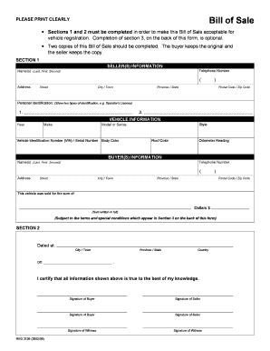 boat bill of sale without notary manufactured mobile home bill of sale forms and templates