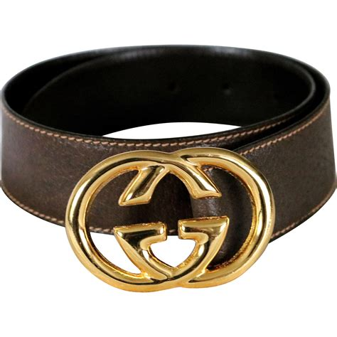 Gucci 70 Nc vintage gucci cross g leather belt from italy from nenghetty on ruby