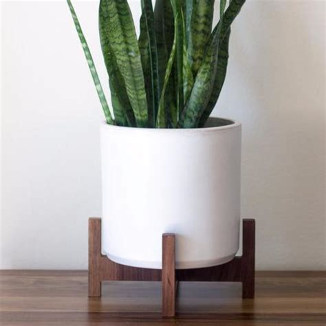 modern planter  plant stand tabletop bell object