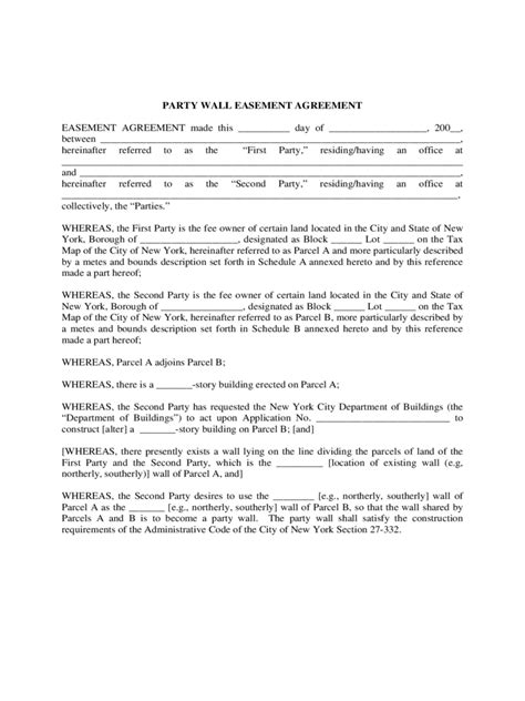 Party Wall Agreement Form 3 Free Templates In Pdf Word Excel Download Wall Agreement Template Free