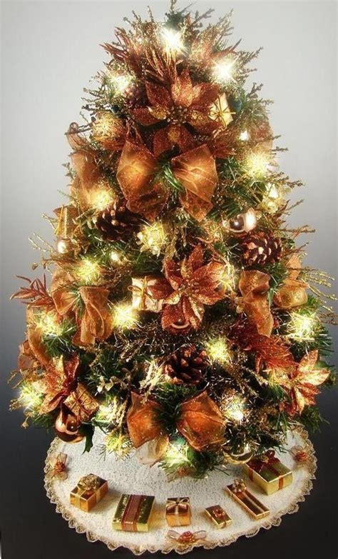 sterling christmas tree copper decorative mini tabletop tree copper gold 20 inches 50 clear mini lights