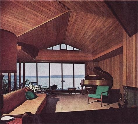 1963 Home Decor 1963 Mcm Living Room With A View View Source House Beautiful And Living Rooms