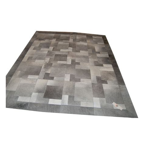 Grey Patchwork Cowhide Rug Patchwork Cowhide Rug K 1978 Cement Grey Puzzle Fur Home