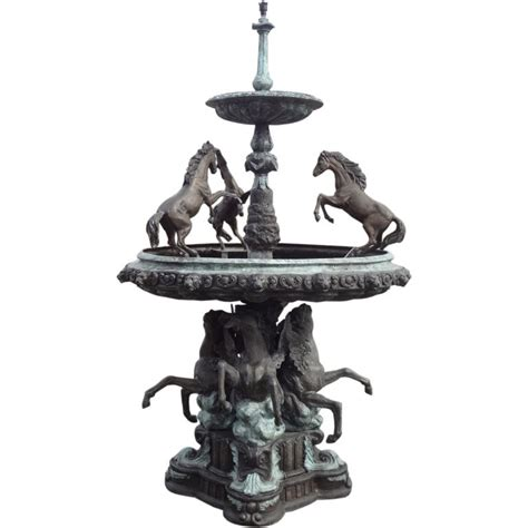 bronze  tier horse fountain  sale  stdibs