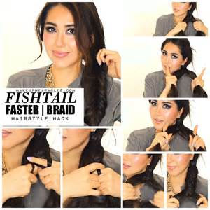 how to i plait my own side hair hairstyle hack for a busy girl fishtail braid tutorial video