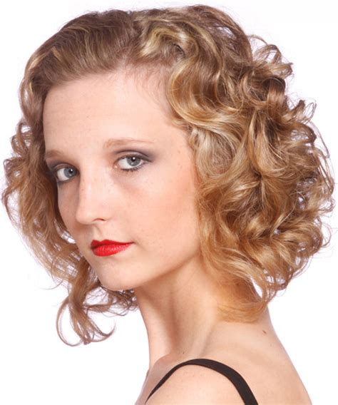 casual hairstyles for medium length curly hair medium curly casual hairstyle