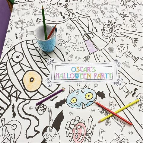 seaside colour in tablecloth eggnogg colouring in halloween giant poster tablecloth eggnogg colouring in