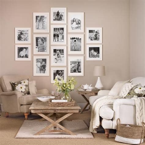 neutral wallpaper for living room neutral living room with family picture gallery simple living room designs housetohome co uk