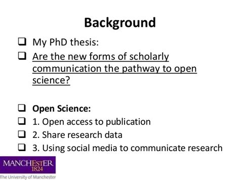 phd thesis about social media seeking and sharing research information on social media