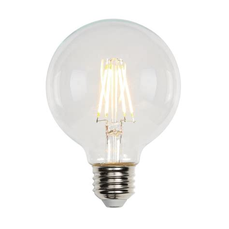 Led Clear Light Bulbs Westinghouse 40w Equivalent Soft White G25 Dimmable Filament Led Light Bulb 3317200 The Home Depot