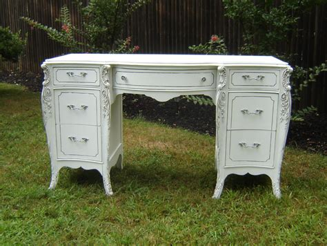 antique white ornate desk shabby chic furniture