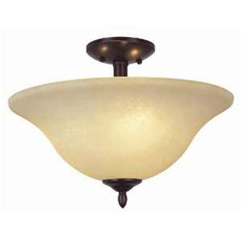rubbed bronze semi flush ceiling light bel air lighting stewart 2 light rubbed bronze cfl