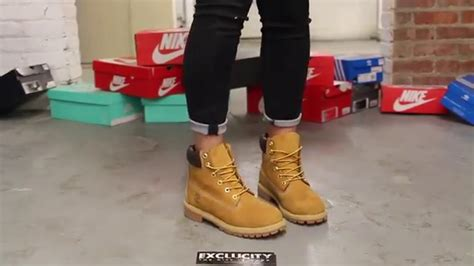 timberland boat shoes on feet women s timberland 6inch premium wheat on feet video at