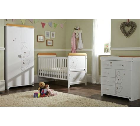 Buy Nursery Furniture Sets Buy Tutti Bambini 3 Bears 3 Room Set Beech And White At Argos Co Uk Your Shop