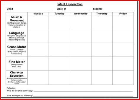 sample lesson plan template for preschool kristal