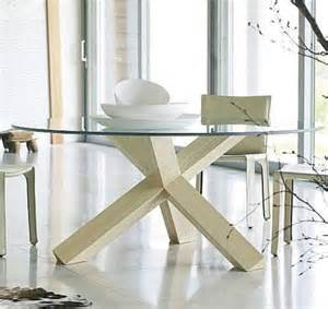 Glass Top Dining Table With Wooden Base Glass Dining Table Legs Crisscrossed Design With Wooden Base Sayleng Sayleng