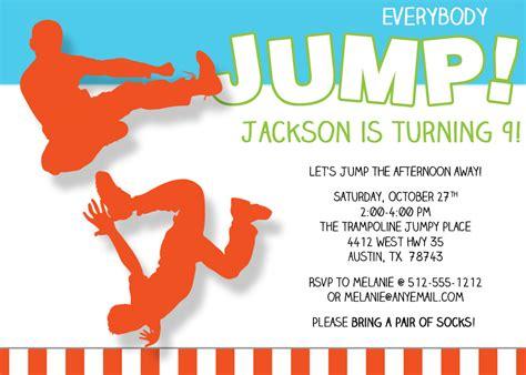 printable sky zone birthday invitations everybody jump birthday invitation printable by