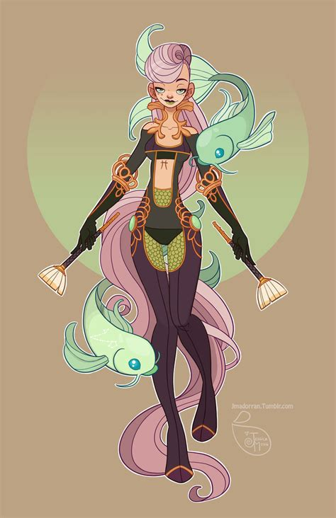 character design pisces by meomai on deviantart