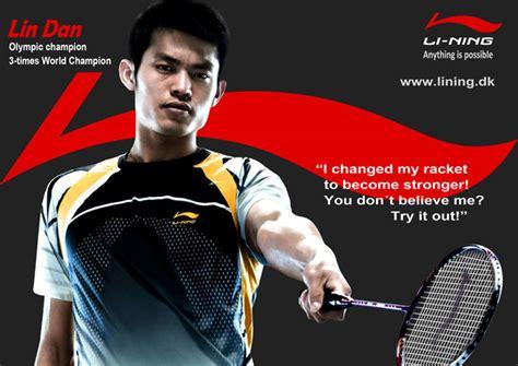 Raket Li Ning Dan li ning to sponsor badminton world chionships in copenhagen