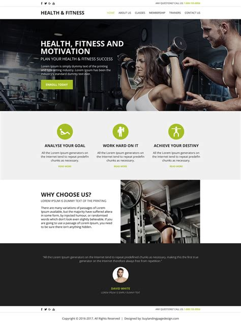 Create Your Health And Fitness Website With Our Html Templates Fitness Website Design Templates
