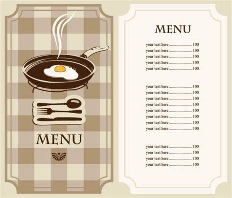 cafe menu templates free set of cafe and restaurant menu cover template vector 04