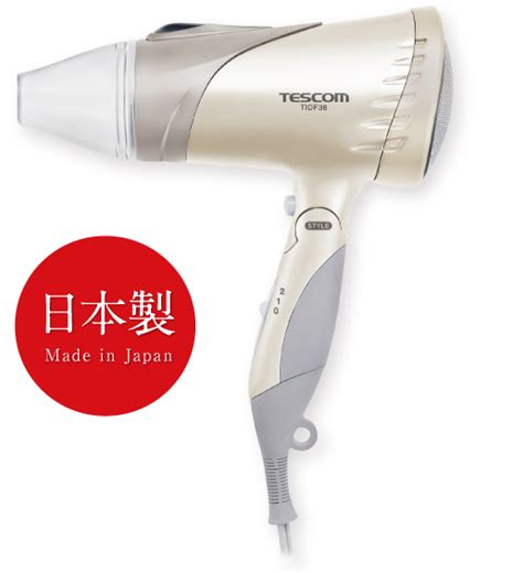 tidf38 ion hair dryer made in japan tescom tourist models