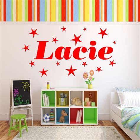 girls bedroom transfers personalised stars name girls bedroom wall art stickers