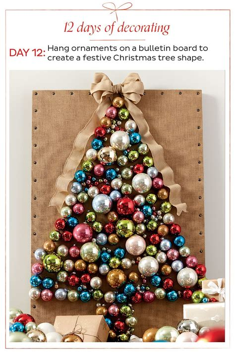 how to make 12 days of christmas ornaments create tree from ornaments how to decorate