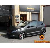 VW Polo GTI Gets Diamond Matte Black Wrap  Autoevolution