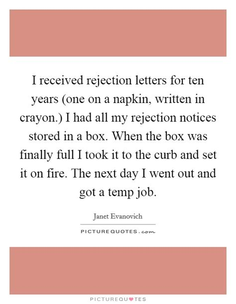 Rejection Letter Of The Year year one quotes year one sayings year one picture quotes