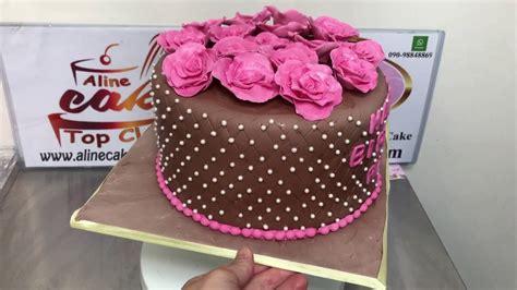 youtube de bolos decorados bolo decorado pasta americana e rosas youtube