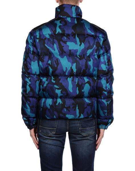 Prada Jacket Blue prada jacket in blue for lyst