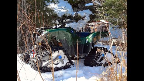 yamaha grizzly atv   tracks   xlent icy cave adventure apr   youtube